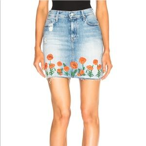 MOTHER Denim Poppy Skirt / 28